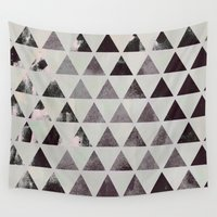 triangles Wall Tapestries featuring triangles. by Georgiana Paraschiv