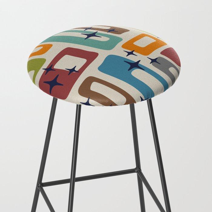 Retro Mid Century Modern Abstract Pattern 224 Bar Stool