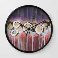 moulin rouge Wall Clocks featuring Rouge by Angelina Yvette