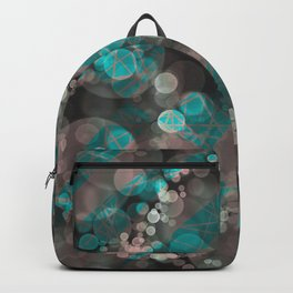 Bubblicious - Teal Pink & Taupe Palette Backpack