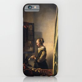 Johannes Vermeer - Girl reading a letter by an open window iPhone Case