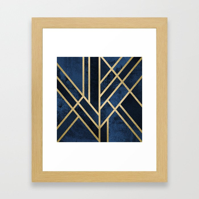 Art Deco Midnight Framed Art Print