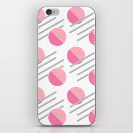 Modern Pink Circle Line Abstract iPhone Skin