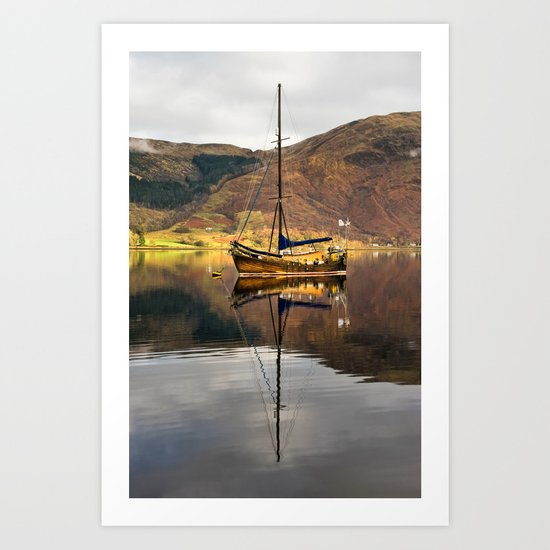 Sailboat Reflections Art Print