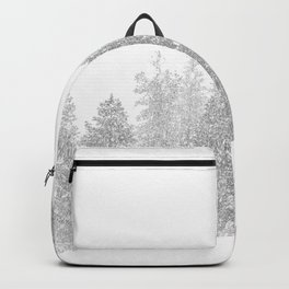 Snowy Slope // Mountain Ski Landscape Photography Black and White Snowboarding Winter Decor Backpack