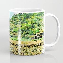 Hortus Conclusus: tractor plows the field Coffee Mug