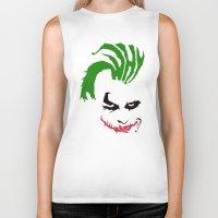 joker Biker Tanks featuring Joker by The Artist
