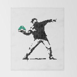 BanksyBit Throw Blanket