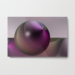 Metallic pearl Metal Print