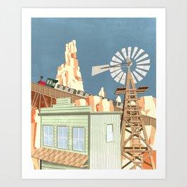 Big Thunder Mountain Railroad Art Print