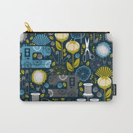 Garden of Sewing Supplies - Navy Carry-All Pouch