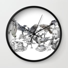Crow Tea Wall Clock