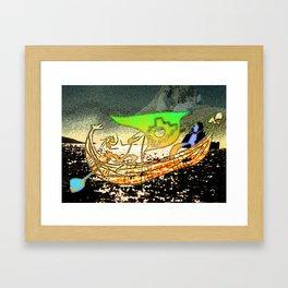 Totora boat Framed Art Print