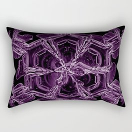 Water Turns Amethyst Rectangular Pillow