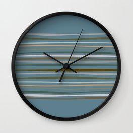 Blueprint and Stripes 1 Wall Clock
