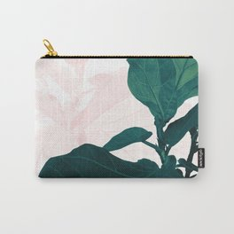 Blush Green Fiddle Leaf Dream #1 #tropical #decor #art #society6 Carry-All Pouch