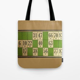 FREnch vintage loto game Tote Bag