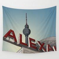 alex turner Wall Tapestries featuring Alex by Matthias Rendl