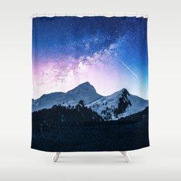 Celestial Glaciations Shower Curtain