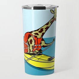Giraffe Sea Kayaking Travel Mug