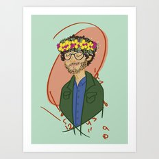Will With Flower Crown Art Print