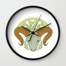 Ram Head Celtic Knot Wall Clock