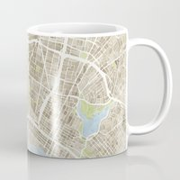 oakland Mugs featuring Oakland California Watercolor Map by Anne E. McGraw