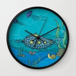 Nautilus under the sea Wall Clock