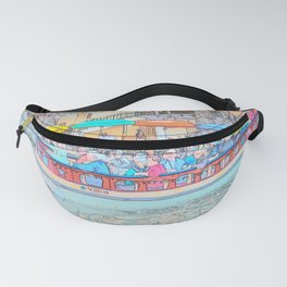 Ride Down The River - San Antonio, Texas Fanny Pack