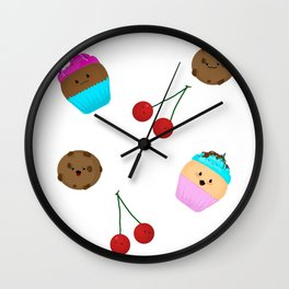 cute sweets Wall Clock