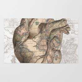 adventure heart-world map 1 Rug