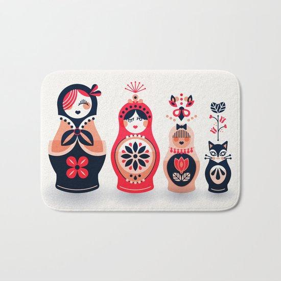 Russian Nesting Dolls – Hot Pink Bath Mat