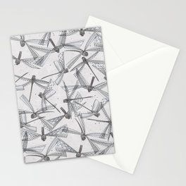 watercolor dragonflies silver Stationery Cards