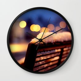 Cold Night Wall Clock