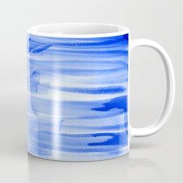 Brushstrokes in Blue Coffee Mug