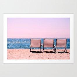 Solo Beach View Art Print