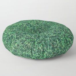 Green Grassy Texture // Real Grass Turf Textured Accent Photograph for Natural Earth Vibe Floor Pillow