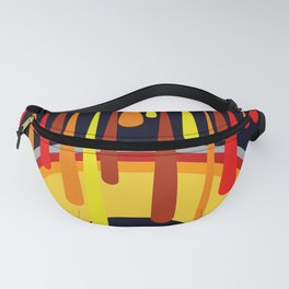 Drops & Rainbow - red - yellow - black Fanny Pack