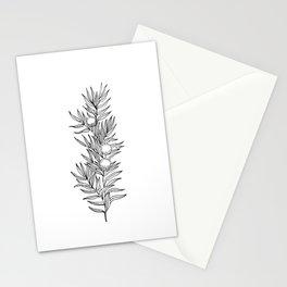 juniper leaf Stationery Cards