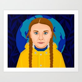 Greta Thunberg Art Print