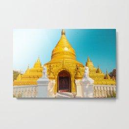 Burmese Temple Austin Metal Print