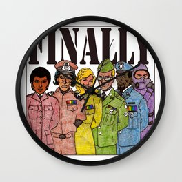 Ability to assemble openly gay, mixed race, mixed gender armed forces Wall Clock