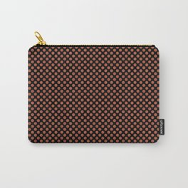 Black and Autumn Glaze Polka Dots Carry-All Pouch