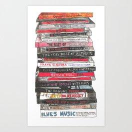 Stack of CDs Art Print