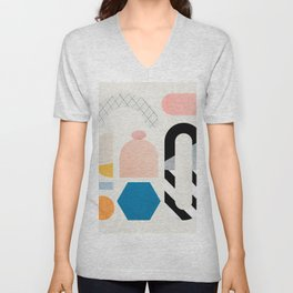 Abstraction_Shapes Unisex V-Neck