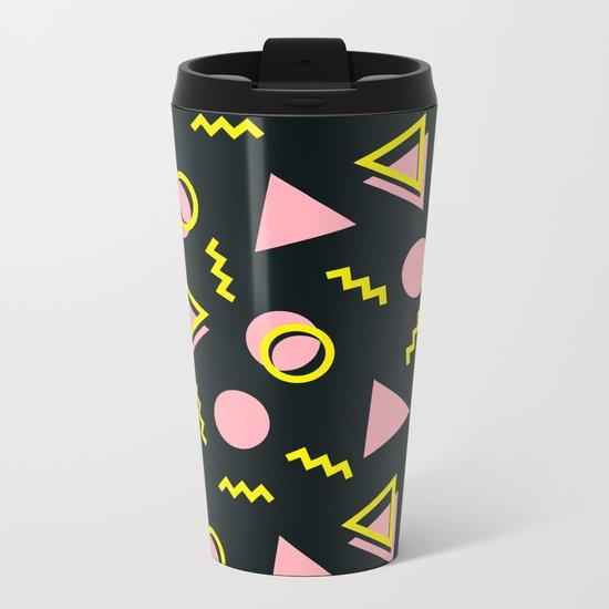 Memphis pattern 64 Metal Travel Mug