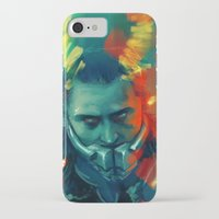 loki iPhone & iPod Cases featuring Loki by AkiMao