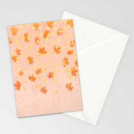 My favourite colour: Gold OCTOBER - Indian Summer - Rose Gold autumnal leaves Stationery Cards
