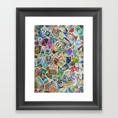 Vintage Postage Stamp Collection - 01 Framed Art Print