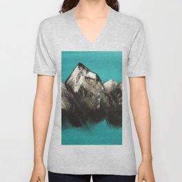 Turquoise Mountains by Noelle's Art Loft Unisex V-Neck